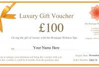 Cambridge Spa  City Lensfield Hotel Boutique Spa Cambridge inside Spa Day Gift Certificate Template