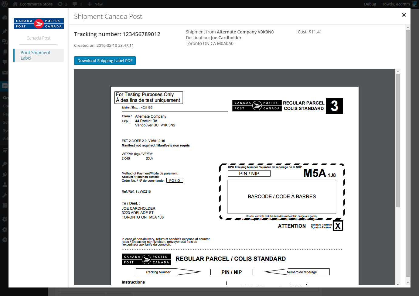 Canada Post Woocommerce Shipping Plugin For Rates Labels And Within Advertising Rate Card Template