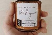 Candle Label Template Wedding Favor Thank You Gift Svg  Etsy pertaining to Chutney Label Templates