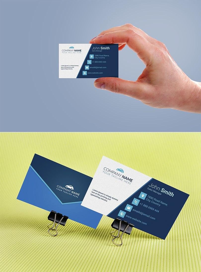 Car Sales Executive Business Card Template  Free Download In Email Business Card Templates
