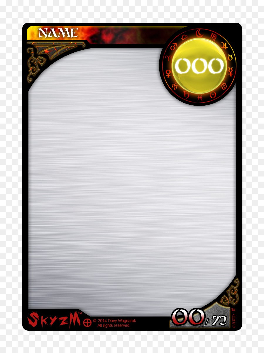 Card Game Png Download    Free Transparent Template Png Inside Template For Game Cards