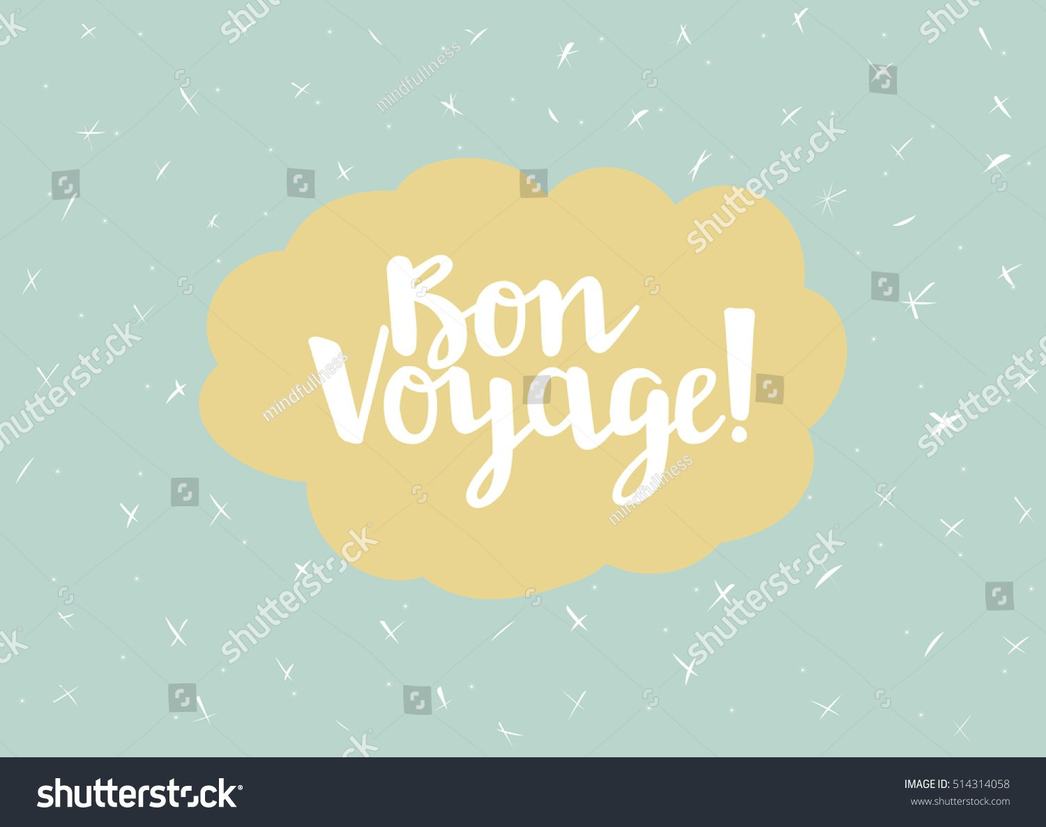 Card Minimal Style Vector Templates Bon Stock Vector Royalty Free With Bon Voyage Card Template