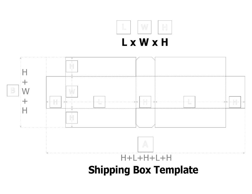 Cardboard Box Template  Steps Within Card Box Template Generator