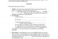 Catering Contract Template in Payment Terms Agreement Template