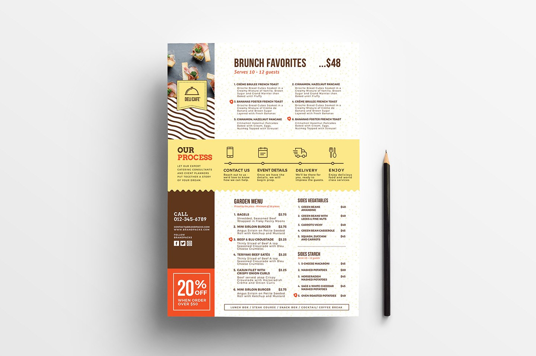 Catering Service Menu Template  Psd Ai  Vector  Brandpacks Inside Product Menu Template
