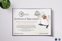 Catering Thank You Certificate Design Template In Psd Word regarding Mock Certificate Template