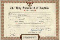 Catholic Baptism Certificates within Roman Catholic Baptism Certificate Template
