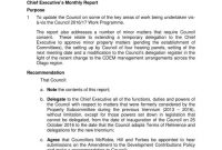 Ceo Report Templates  Pdf  Free  Premium Templates within Monthly Board Report Template