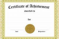 Ceritificate Template  Weekly Template inside Generic Certificate Template