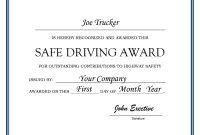 Cert Great Driving Certificate  Katieroseintimates in Safe Driving Certificate Template
