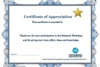 Certificate Appreciation Example Fresh Of Templates Free Template for Certification Of Participation Free Template