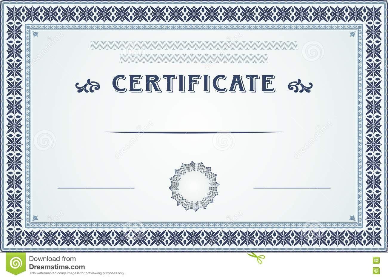 Certificate Border And Template Design Stock Vector  Illustration Inside Certificate Border Design Templates
