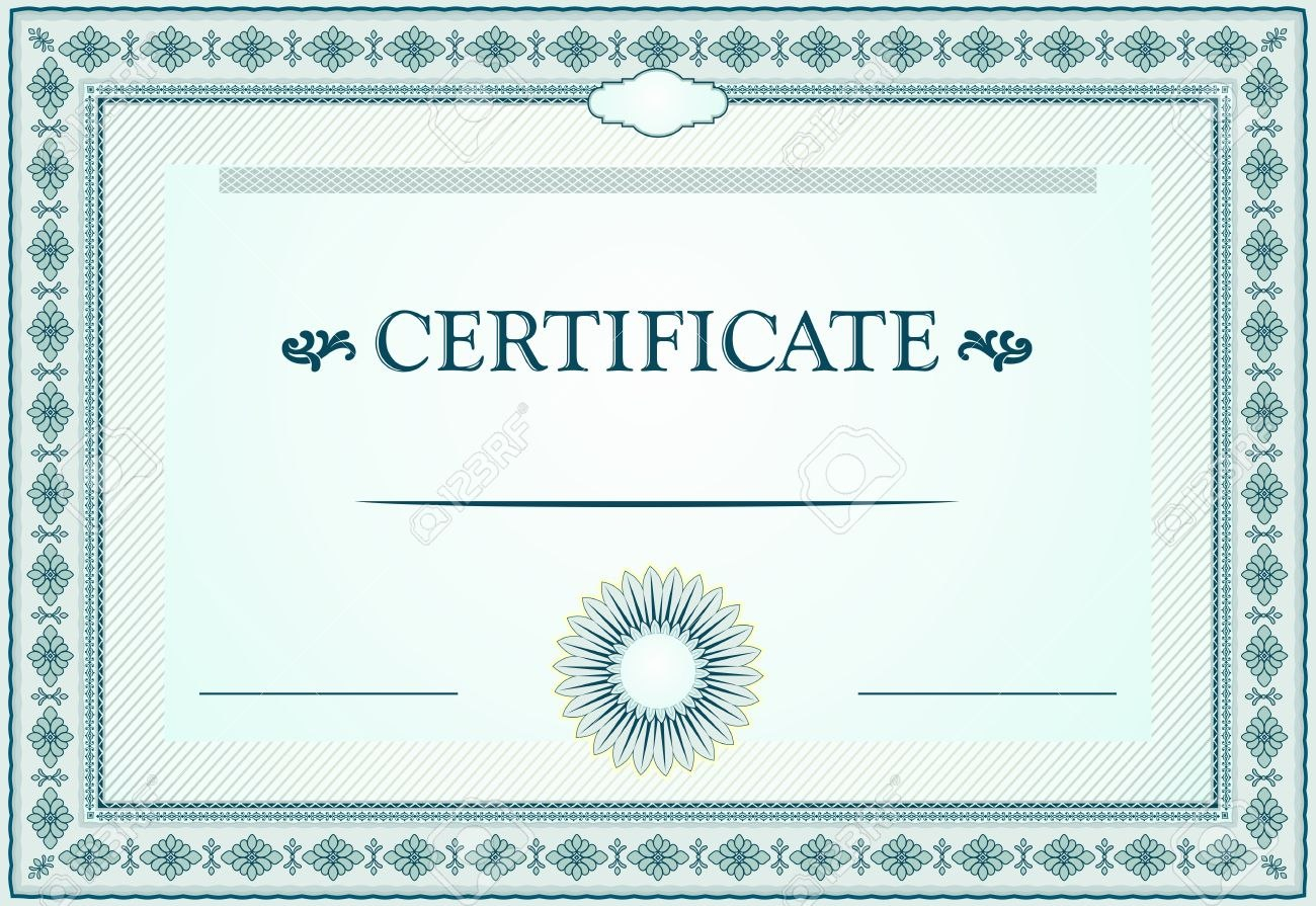 Certificate Borders Template And Design Elements Royalty Free With Certificate Border Design Templates