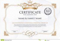 Certificate Design Template Stock Vector  Illustration Of inside Award Certificate Design Template