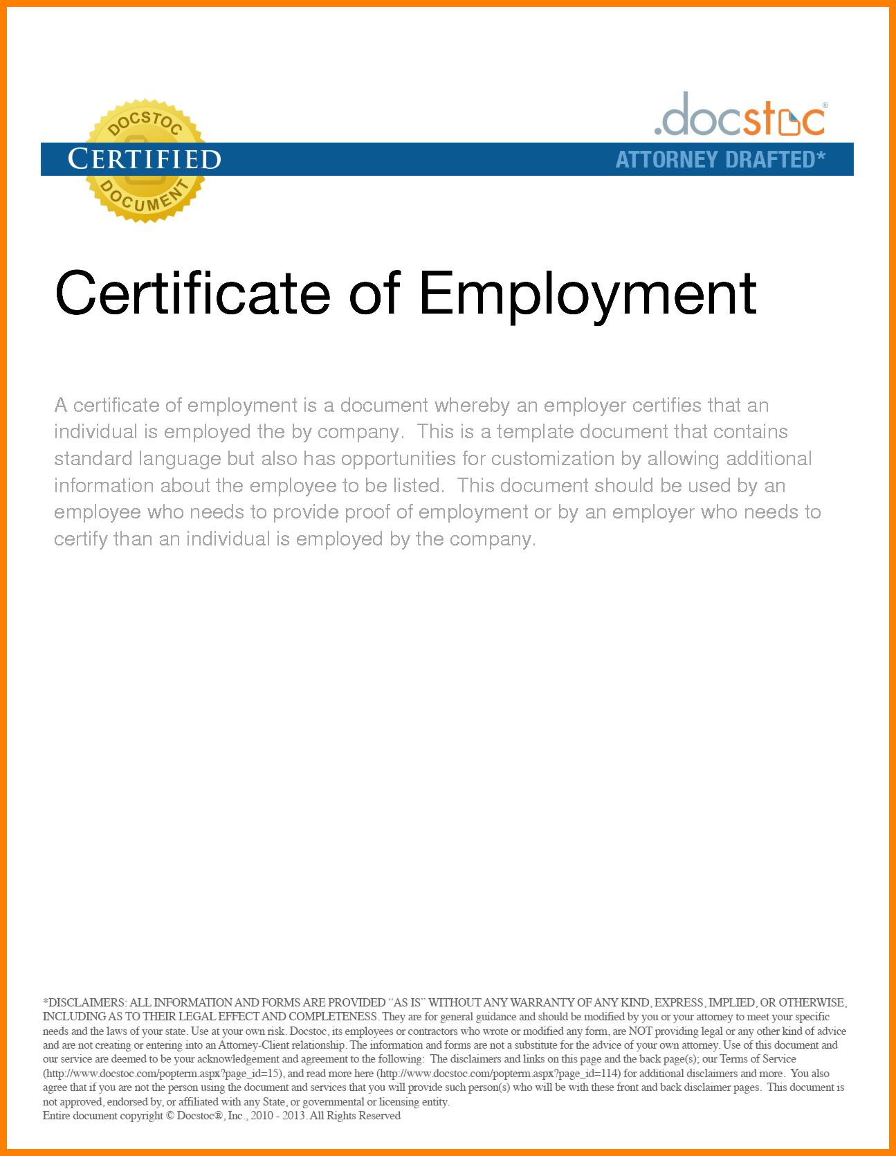 Certificate Employment Template Filename  Elsik Blue Cetane Throughout Certificate Of Employment Template