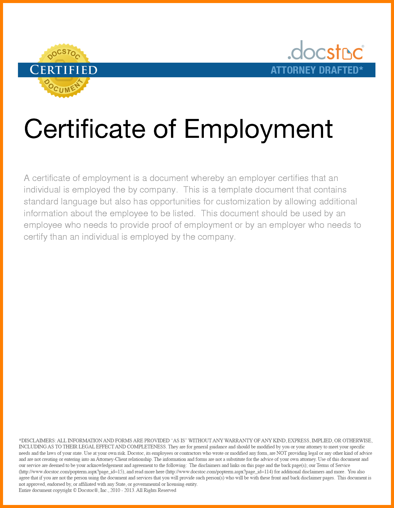 Certificate Employment Template Filename  Elsik Blue Cetane Within Employee Certificate Of Service Template