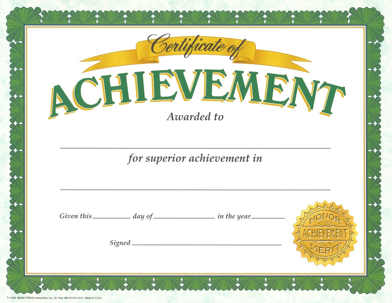 Certificate Of Achievement Template – Certificate Templates With Certificate Of Accomplishment Template Free