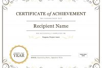 Certificate Of Achievement throughout Certificate Of Accomplishment Template Free