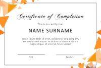 Certificate Of Achievement Word Template Certificateofcompletion for Word Template Certificate Of Achievement