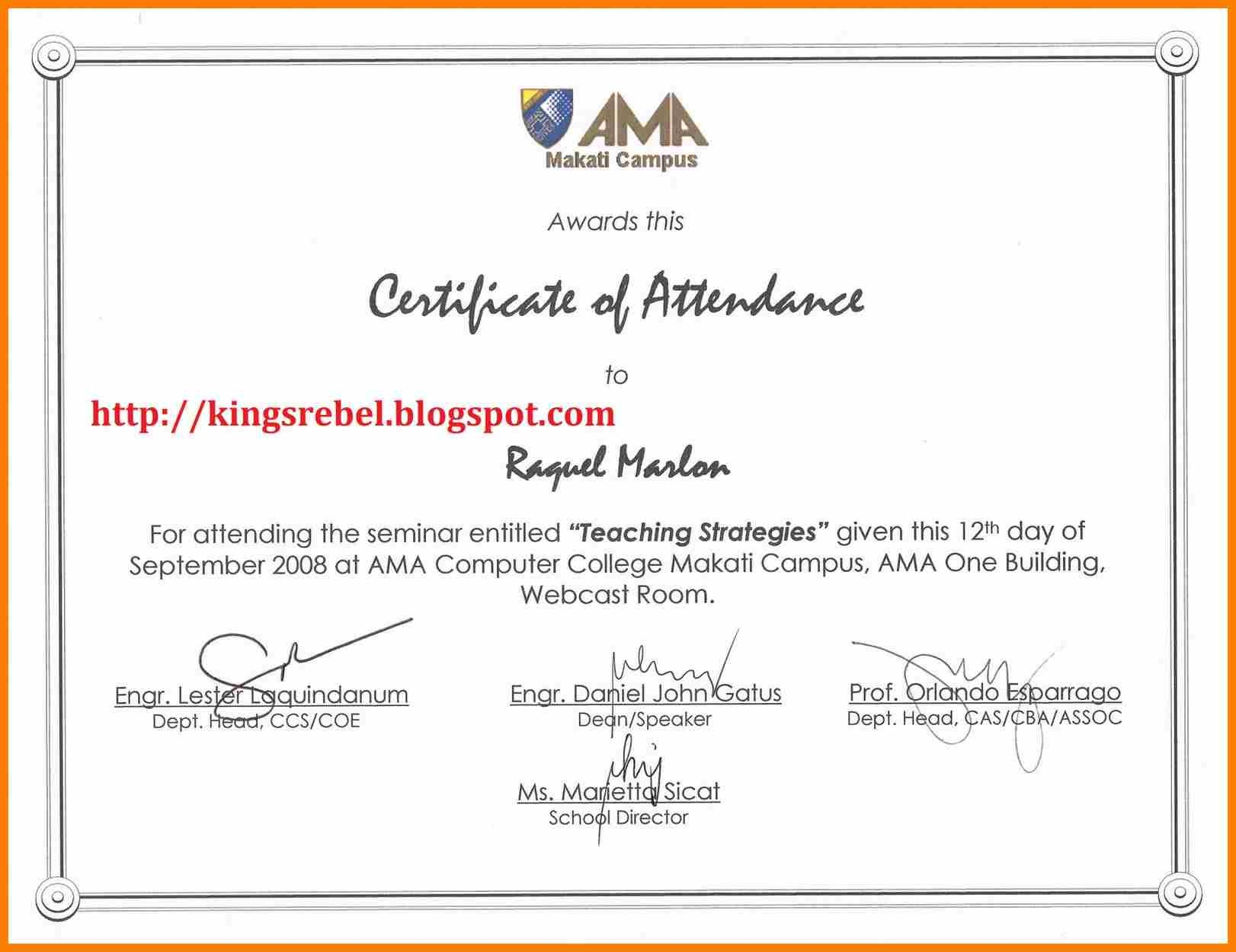 Certificate Of Appearance Template  Weekly Template For Certificate Of Appearance Template
