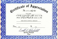 Certificate Of Appreciation Template Word Free Download for Template For Certificate Of Appreciation In Microsoft Word