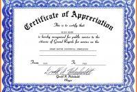 Certificate Of Appreciation Template Word Ideas Best Army with Certificate Of Appreciation Template Doc
