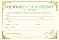 Certificate Of Authenticity Template Free Ideas Bunch For Your throughout Art Certificate Template Free