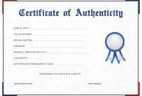 Certificate Of Authenticity Template  Sansurabionetassociats regarding Photography Certificate Of Authenticity Template