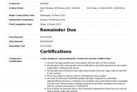 Certificate Of Completion For Construction Free Template  Sample in Construction Certificate Of Completion Template