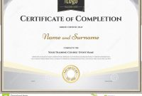 Certificate Of Completion Template In Vector For Achievement regarding Certification Of Completion Template