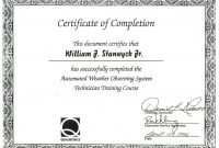 Certificate Of Completion Template Word Doc for Certificate Of Completion Word Template