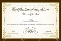 Certificate Of Completion Template Word Free pertaining to Certificate Of Completion Template Word