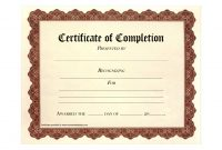 Certificate Of Completion Templates Free Download Images  Free throughout Free Completion Certificate Templates For Word