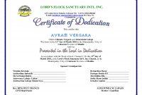 Certificate Of Dedication  Children's Ministry  Baby Dedication for Baby Dedication Certificate Template