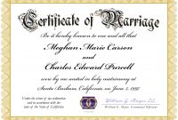 Certificate Of Marriage Template Blank Awesome Free Unique with Certificate Of Marriage Template