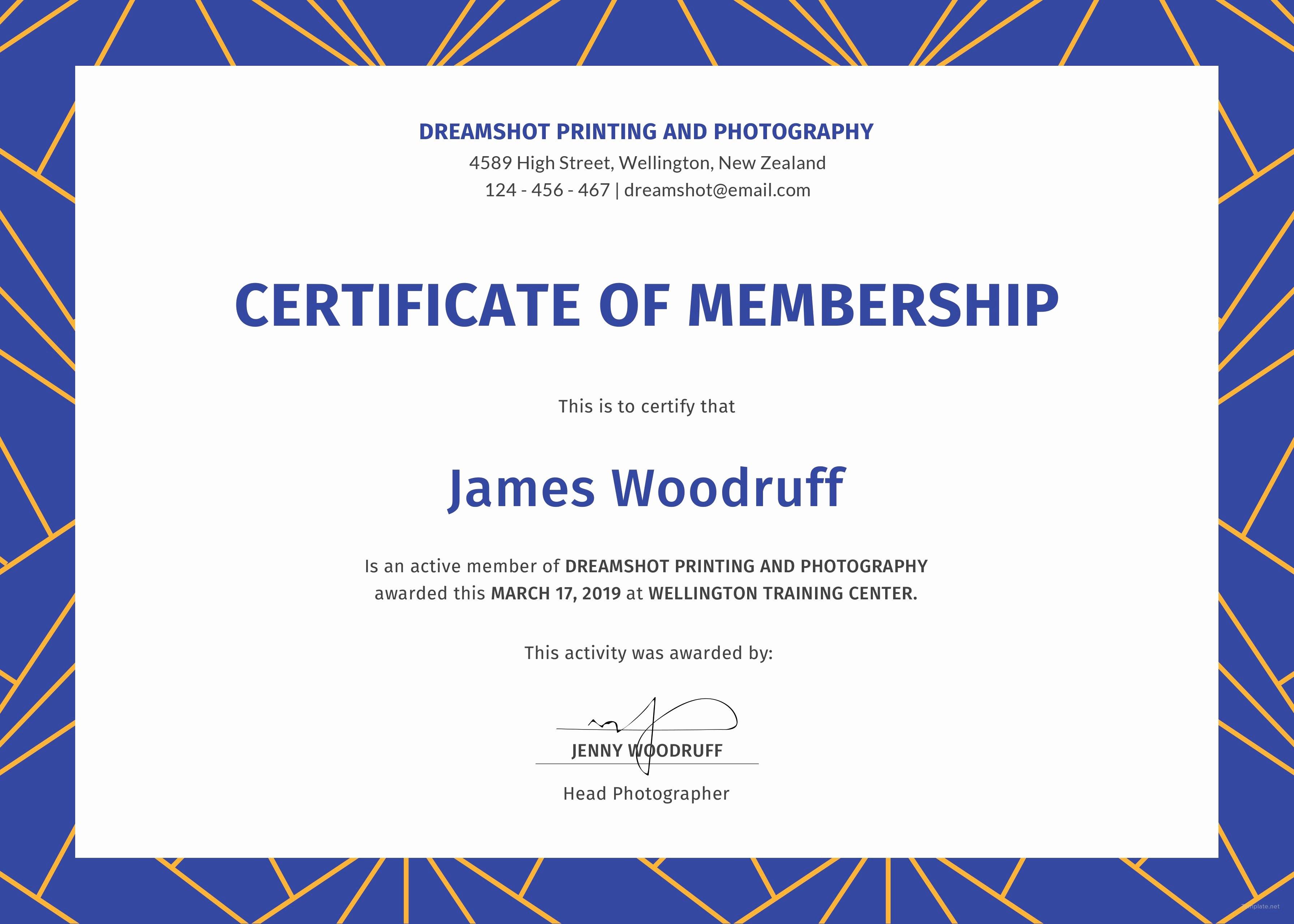 Certificate Of Membership  Mvblog With Life Membership Certificate Templates