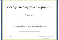 Certificate Of Participation Format Pdf Great Certificate within Certificate Of Participation Template Pdf