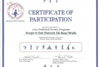 Certificate Of Participation Template  – Elsik Blue Cetane intended for Athletic Certificate Template