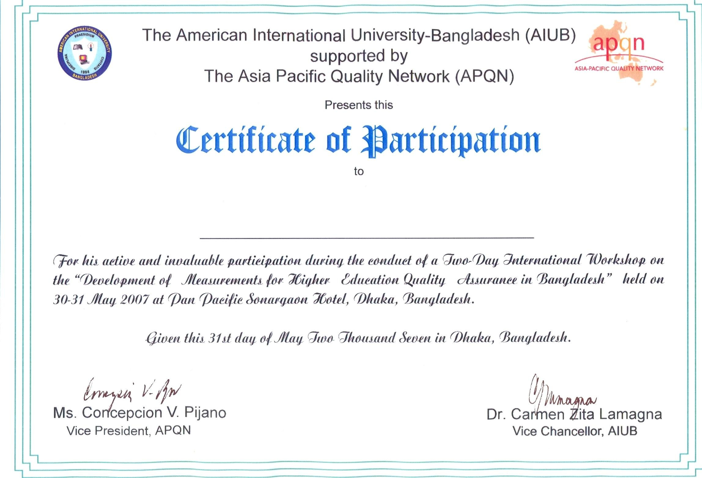 Certificate Of Participation Template Filename  Elsik Blue Cetane Throughout Certificate Of Participation Template Ppt