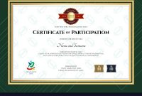 Certificate Of Participation Template In Sport The for Templates For Certificates Of Participation