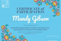 Certificate Of Participation Template  Venngage in Certificate Of Participation In Workshop Template