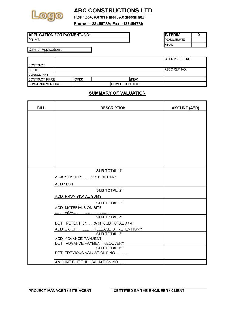 Certificate Of Payment Template  – Elsik Blue Cetane With Construction Payment Certificate Template
