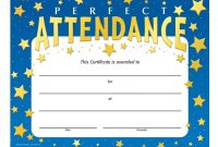 Certificate Of Perfect Attendance  Sansurabionetassociats in Perfect Attendance Certificate Free Template