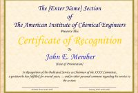 Certificate Of Recognition And Appreciation Template intended for Recognition Of Service Certificate Template