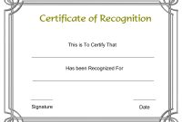 Certificate Of Recognition Template Microsoft Word  Dtemplates with Template For Certificate Of Appreciation In Microsoft Word