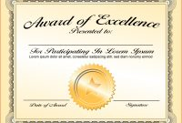 Certificate Of Recognition Template Word  – Elsik Blue Cetane in Template For Recognition Certificate