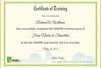 Certificate Of Training Templates  – Elsik Blue Cetane for Template For Training Certificate