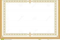 Certificate Stock Vector Illustration Of Award Blank with regard to Award Certificate Border Template