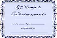 Certificate Template Blank Best Photos Of Microsoft Blank pertaining to Donation Certificate Template