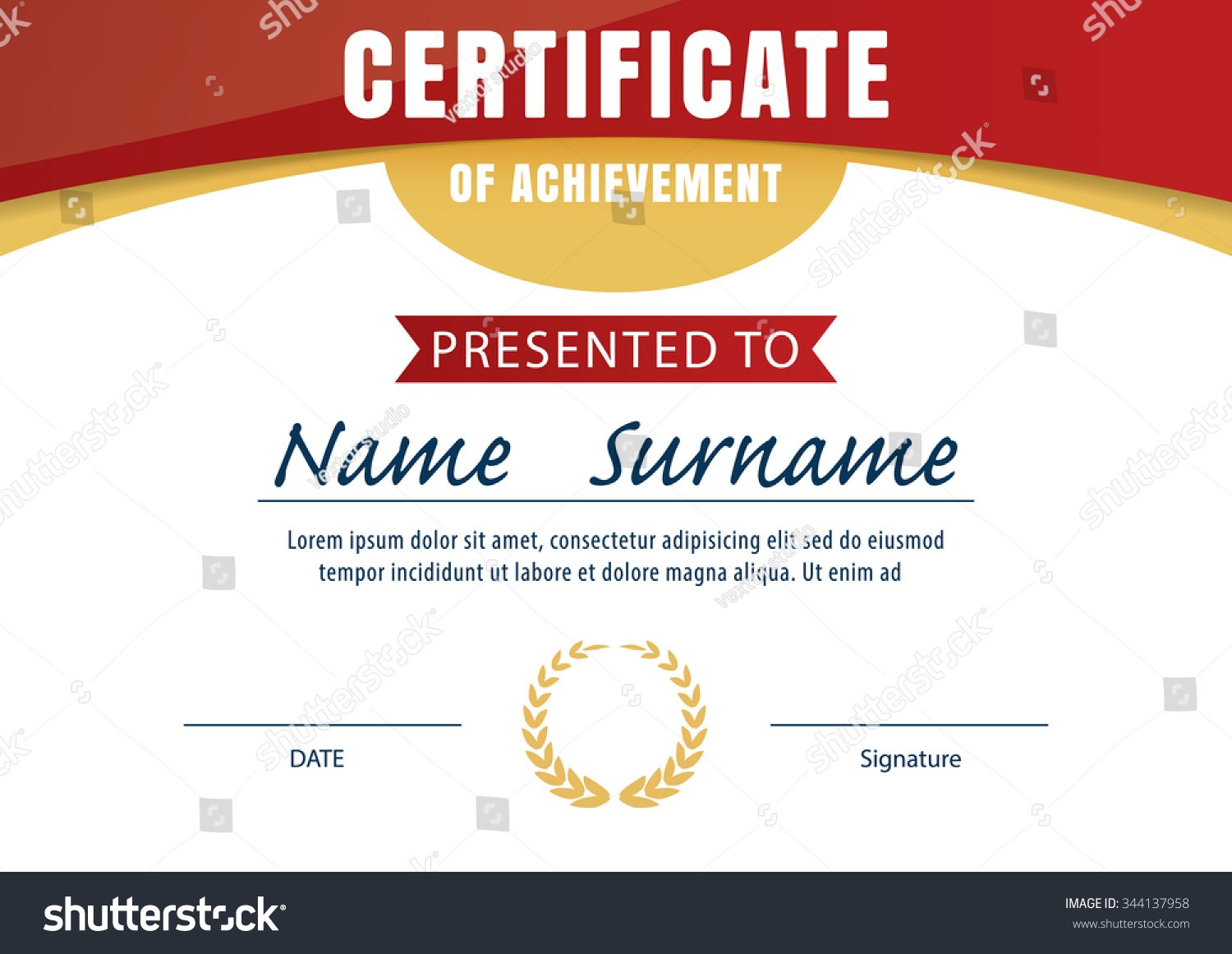 Certificate Template Diploma Layout A  Size Stock Vector Royalty Regarding Certificate Template Size